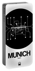 Munich Black Subway Map Portable Battery Charger