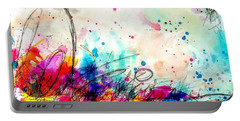 Portable Battery Charger featuring the painting My Ben, Be Mine, All Mine 2 by Tracy Bonin