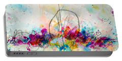 Portable Battery Charger featuring the painting My Ben, Be Mine, All Mine by Tracy Bonin
