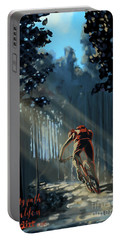 Portable Battery Charger featuring the painting My Dirt Path by Sassan Filsoof