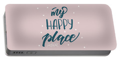 My Happy Place - Baby Room Nursery Art Poster Print Portable Battery Charger