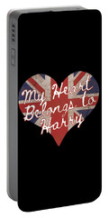My Heart Belongs To Prince Harry Portable Battery Charger