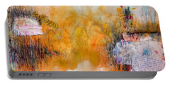 Portable Battery Charger featuring the painting My Mouth Hasn't Shut Up About You Since You Kissed It by Tracy Bonin