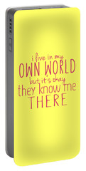 My Own World Portable Battery Charger