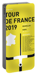 My Tour De France Minimal Poster 2019 Portable Battery Charger