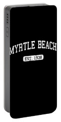 Portable Battery Charger featuring the digital art Myrtle Beach by Flippin Sweet Gear