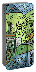 Portable Battery Charger featuring the painting Mystical Powers by Sotuland Art