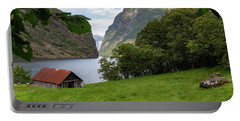 Portable Battery Charger featuring the photograph Naeroyfjord, Norway by Andreas Levi