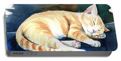Naptime Cat Painting Portable Battery Charger