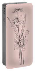 Narcissus Blush Pink Flower Portable Battery Charger