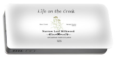 Narrow Leaf Milkweed Portable Battery Charger