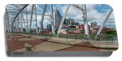 Nashville Cityscape From The Bridge Portable Battery Charger