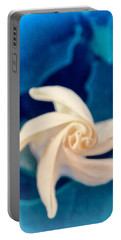 Portable Battery Charger featuring the photograph Nature's Pinwheel - Sacred Datura by Judy Kennedy