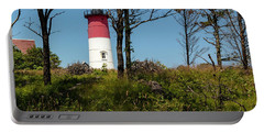 Nauset Lighthouse On The 4th Of July Portable Battery Charger