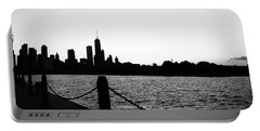 Navy Pier Monochrome  Portable Battery Charger