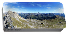 Portable Battery Charger featuring the photograph Nebelhorn Panorama by Andreas Levi