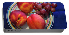 Nectarines And Grapes Portable Battery Charger
