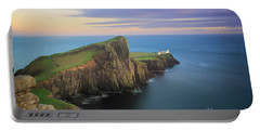 Portable Battery Charger featuring the photograph Neist Point Lighthouse On Skye At Sunset by IPics Photography