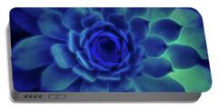 Neon Blue Sempervivum Portable Battery Charger