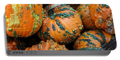 Portable Battery Charger featuring the photograph Nestled - Autumn Pumpkins by Debi Dalio