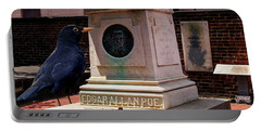 Portable Battery Charger featuring the photograph Nevermore Quoth The Raven by Bill Swartwout Fine Art Photography