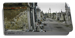 Portable Battery Charger featuring the photograph New Orleans Cemetery by Rosanne Licciardi