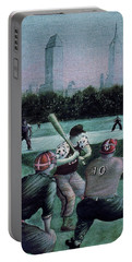 New York Central Park Baseball - Watercolor Art Painting Portable Battery Charger