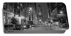 New York City Gotham West Market New York Ny Black And White Portable Battery Charger