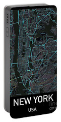 New York City Map Black Edition Portable Battery Charger