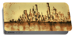New York City Skyline 79 - Water Color Drawing Portable Battery Charger