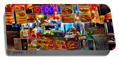 New York Hot Dog Cart Portable Battery Charger