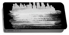 New York Skyline Brush Stroke White Portable Battery Charger