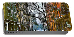 New York West Village Snow Portable Battery Charger
