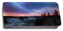 Niagara Falls At Sunrise Portable Battery Charger