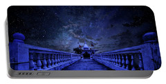 Night Sky Over The Temple Portable Battery Charger