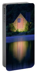 Nightfall At The Old Stone Church Portable Battery Charger