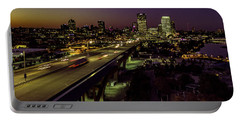 Portable Battery Charger featuring the photograph Nightfall In Milwaukee by Randy Scherkenbach
