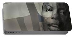 Nina Simone _ Retro Portable Battery Charger