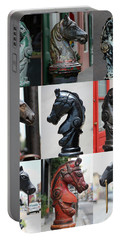 Nine Horse Head Hitching Posts Portable Battery Charger