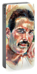 No One But You - Freddie Mercury Portrait Portable Battery Charger