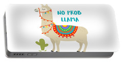 No Prob Llama - Baby Room Nursery Art Poster Print Portable Battery Charger