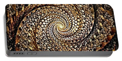 Portable Battery Charger featuring the digital art No Rock Like Our God by Missy Gainer