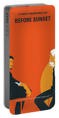 No1012 My Before Sunset Minimal Movie Poster Portable Battery Charger