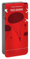 No1018 My Red Dawn Minimal Movie Poster Portable Battery Charger