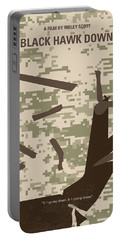 No1076 My Black Hawk Down Minimal Movie Poster Portable Battery Charger