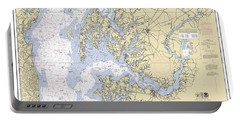 Chesapeake Bay, Cove Point To Sandy Point Nautical Chart Portable Battery Charger