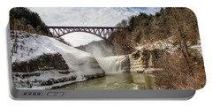 Winter At Letchworth State Park Portable Battery Charger