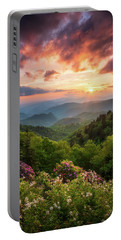 North Carolina Great Smoky Mountains Sunset Landscape Cherokee Nc Portable Battery Charger