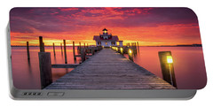 North Carolina Outer Banks Manteo Lighthouse Obx Nc Portable Battery Charger