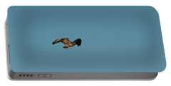 Portable Battery Charger featuring the photograph Northern Harrier In A Hurry by Jon Burch Photography